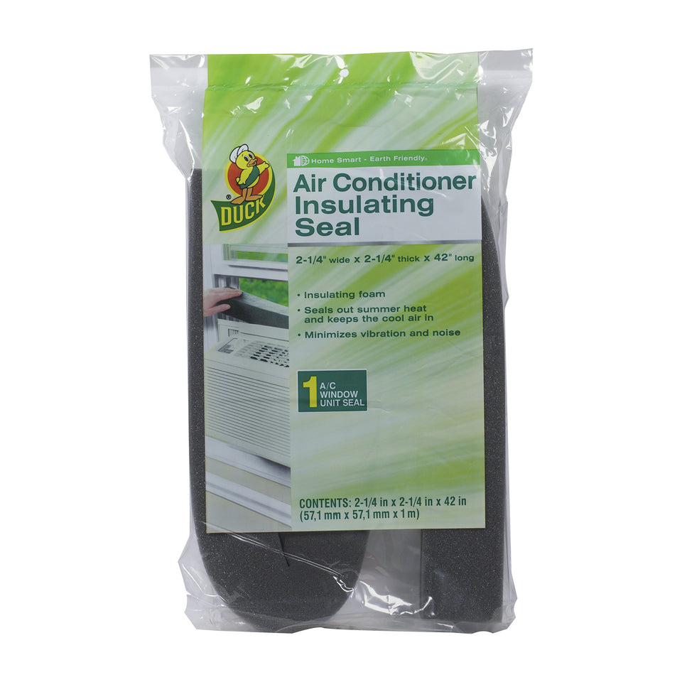 Duck Brand Window Air Conditioner Insulating Strip Seal, 2.25-Inch x 2.25-Inch x 42-Inch, 284423 Air Conditioner Insulating Seal