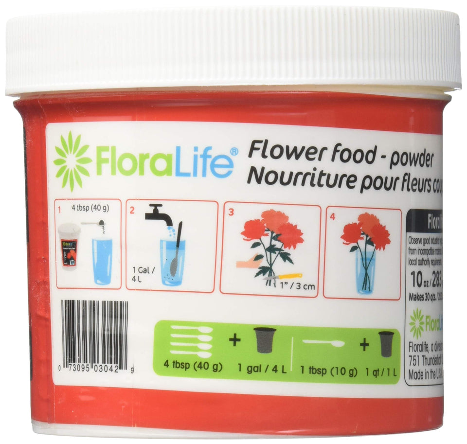 Cut Flower Food Floralife Crystal Clear 10 Ounce Original Version