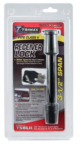 "Trimax T5Black 5/8"" Diameter Receiver Lock 3.5in"