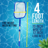U.S. Pool Supply Economy Pool Leaf Skimmer Net with Adjustable 4 Foot Telescopic Pole Standard Skimmer & Pole
