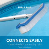 Blue Devil Pool Wall Brush Deluxe with Poly Bristles - 18""