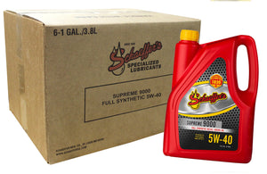 Schaeffer Manufacturing Co. 9000-006 Supreme Full Synthetic Diesel Engine Oil, 5W-40, 1 gal (Pack of 6) 1 Gallon (Pack of 6)