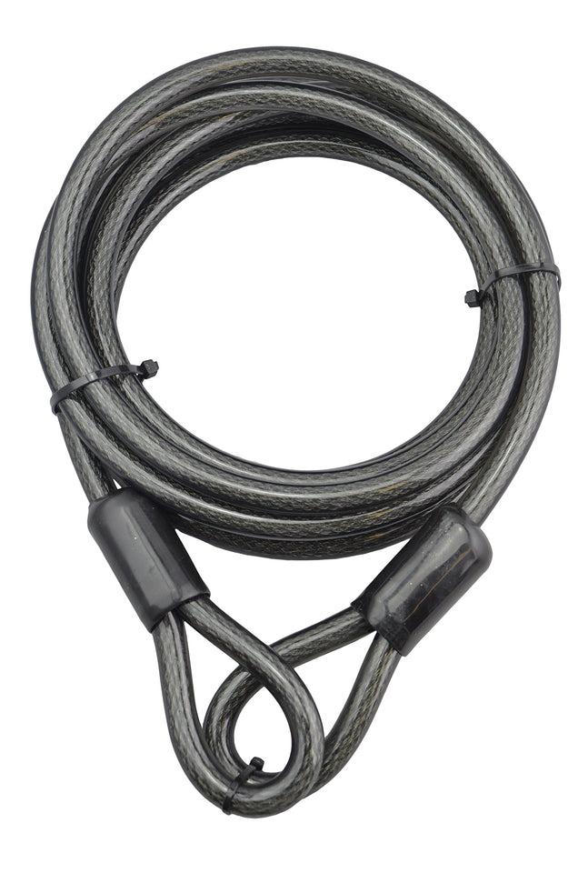 Lumintrail 12mm (1/2 inch) Heavy-Duty Security Cable, Vinyl Coated Braided Steel with Sealed Looped Ends (4', 7', 15' or 30') 30-FT
