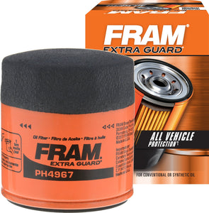 FRAM Extra Guard PH4967, 10K Mile Change Interval Spin-On Oil Filter
