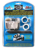 EKLIPES EK1-110 Cobra Chrome Ultimate Motorcycle USB Charging System, 1 Pack Chrome Charging System