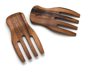 "Lipper International 1102 Acacia Salad Hands, 3.75"" x 7"" x 1.88"", One Pair"