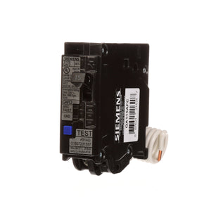 SIEMENS QA115AFC 15-Amp Single Pole 120-volt Plug-On Combination AFCI Breaker, Black 15 Amp 1 Pack Cardboard Packaging