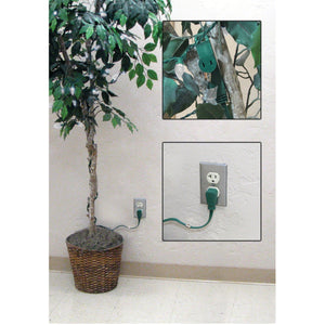 Axis 45511 3-Outlet Green Wall-Hugger Indoor Grounded Extension Cord, 8ft