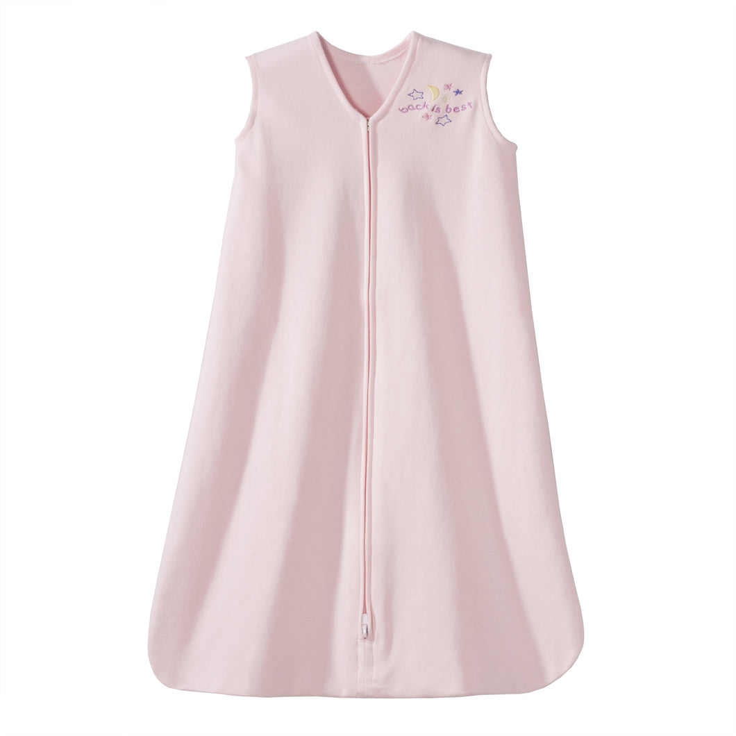 HALO Sleepsack 100% Cotton Wearable Blanket, Soft Pink, Small Small (Pack of 1)