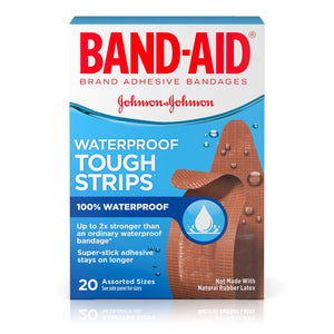 Band-Aid Brand Tough-Strips Waterproof Adhesive Bandages, Durable Protection for Minor Cuts and Scrapes, Assorted Sizes, 20 Count ( Pack Of 6 ) 20 Count (Pack of 6) Waterproof Assorted Ez Store USA