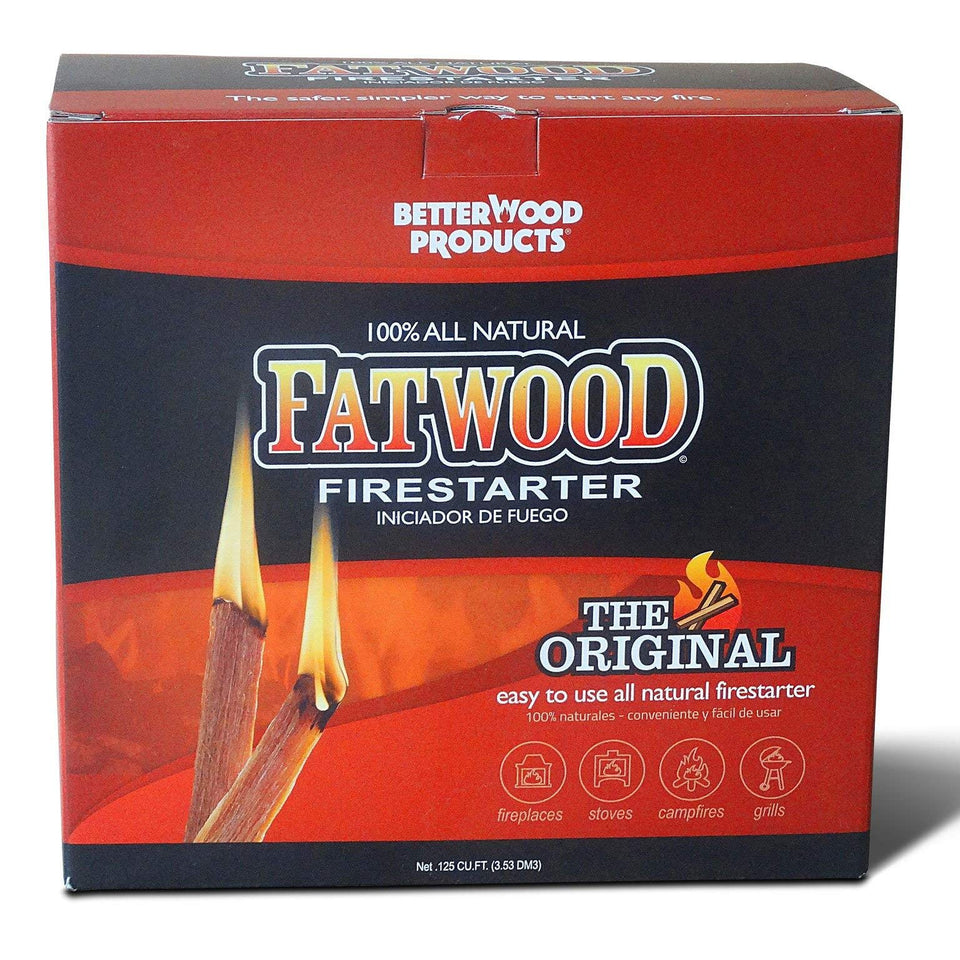 Better Wood Products Fatwood Firestarter Box, 10-Pounds - 093010 10 lbs