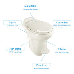 Thetford 34430 Aqua Magic Style Plus Toilet, High/Bone Bone