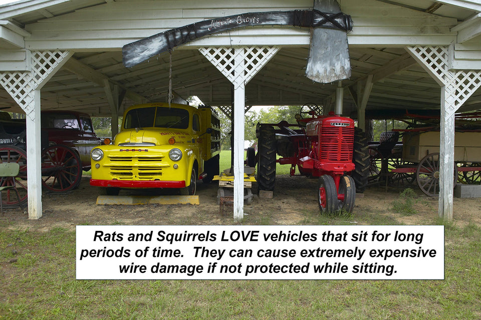 Rodent Vehicle Natural Repellent for cars, trucks suv, RV Boats, peppermint and other essential oils to deter rats, mice and squirrels