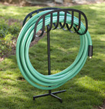 Liberty Garden 647 Manger Style Metal Garden Hose Stand, Holds 125-Feet of 5/8-Inch Hose - Black