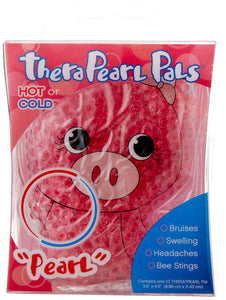 TheraPearl Children's Pals, Pearl the Pig, Non Toxic Reusable Animal Shaped Hot Cold Therapy Pack, Flexible Compress for Injuries, Swelling, Pain Relief, Bee Stings Ez Store USA