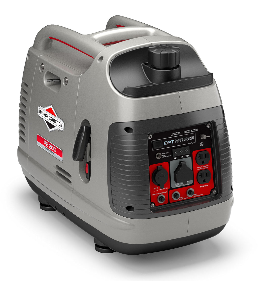 Briggs & Stratton P2200 Power Smart Series Inverter Generator with Quiet Power Technology and Parallel Capability, 2200 Starting Watts 1700 Running Watts 2200-Watt