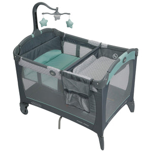 Graco Pack and Play Change 'n Carry Playard | Includes Portable Changing Pad, Manor