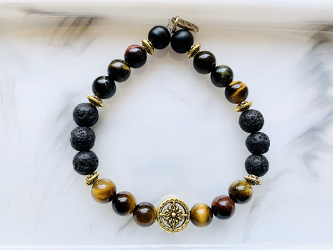 Tigers Eye Stone Bracelet - Pressbe Workshop