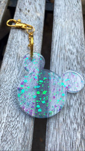 Blue Holographic Mouse Keychain - Pressbe Workshop