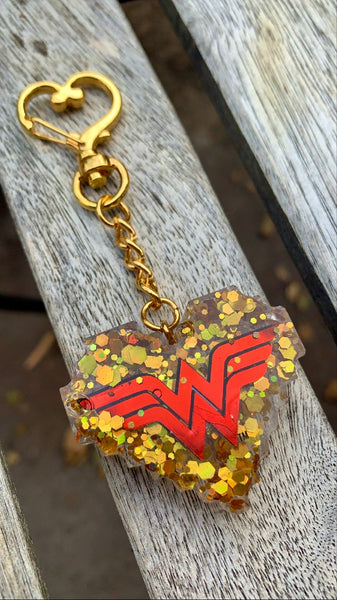 Red Wonder Woman Keychain - Pressbe Workshop