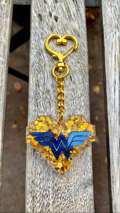 Blue and Gold Wonder Woman inspired Keychain - Pressbe Workshop