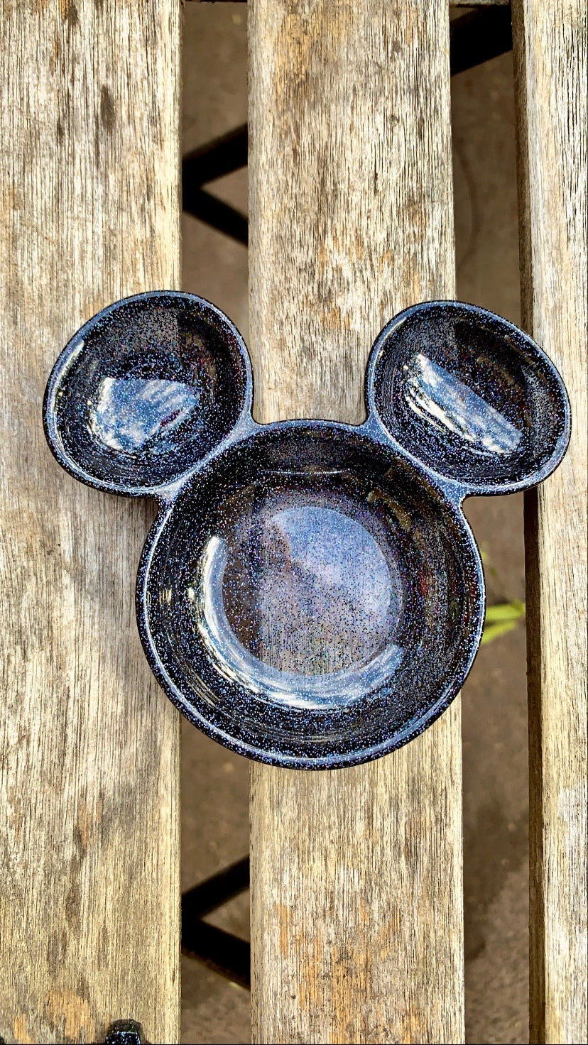 Black Holographic Mouse Dish - Pressbe Workshop