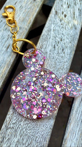 Pink Holographic Mouse Keychain - Pressbe Workshop