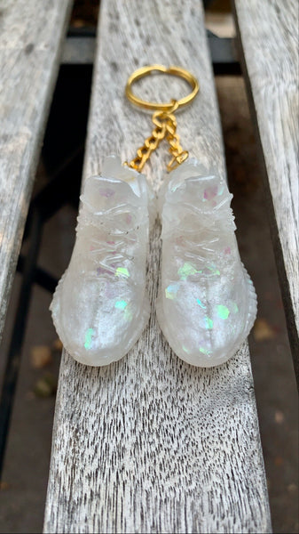 Glow n the Dark Holographic Yeezy Keychain* discounted - Pressbe Workshop
