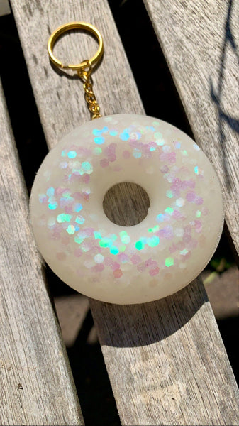 Holographic Donut Keychain - Pressbe Workshop
