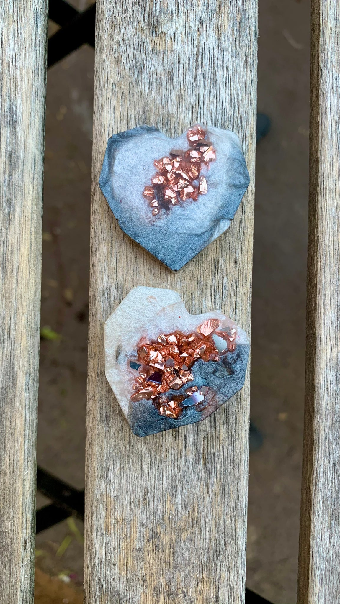 Geometric Heart Magnets (geode inspired) - Pressbe Workshop