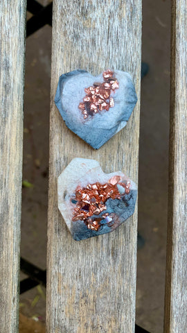Geometric Heart Magnets (geode inspired)