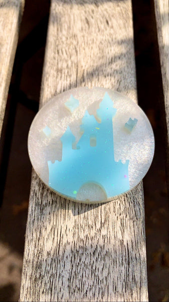 Ice Blue Magic Castle Pop Socket - Pressbe Workshop