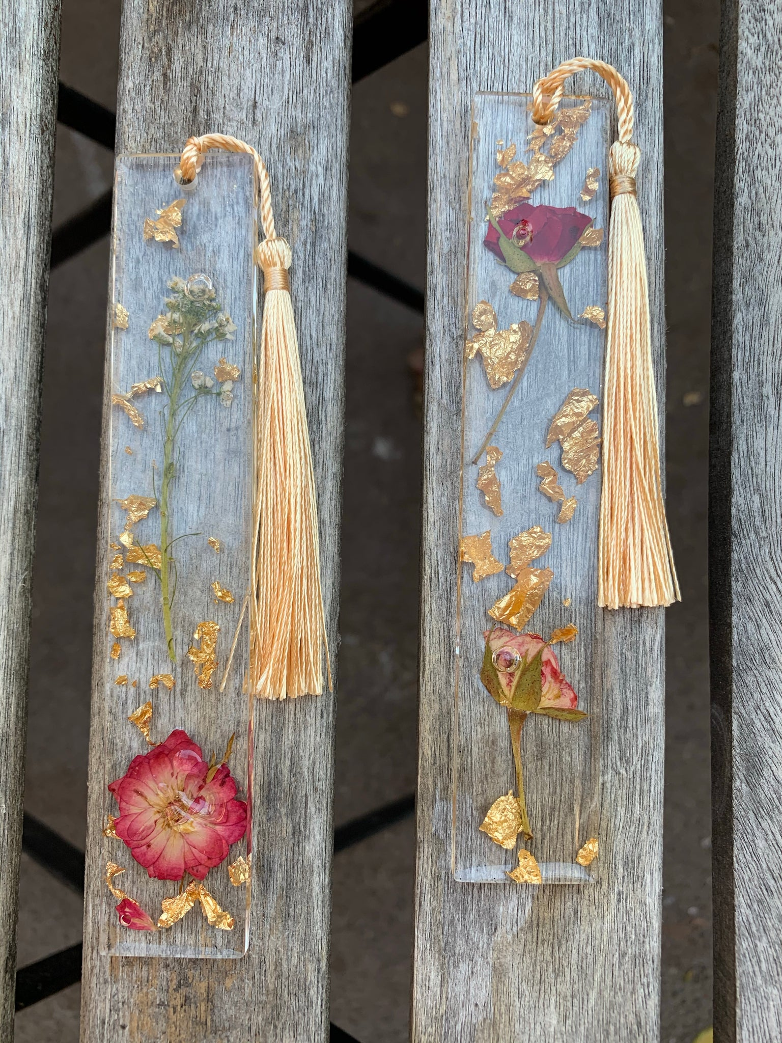 Rose Bookmark Set - Pressbe Workshop