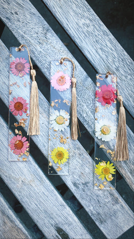 Assorted Chrysanthemum Bookmark set - Pressbe Workshop