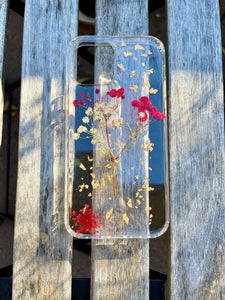 Red & White Baby's Breath iPhone 12 case - Pressbe Workshop
