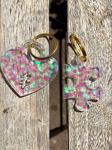 Puzzled Heart Keychain set - Pressbe Workshop