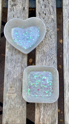 Glow n the Dark Pearl Holographic small dish set - Pressbe Workshop