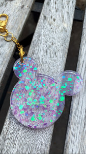 Purple Holographic Disney Keychain - Pressbe Workshop