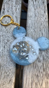 Blue & White  Mouse Keychain - Pressbe Workshop