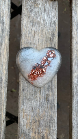 Heart Magnet (geode inspired)