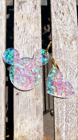 Mouse Heart keychain set - Pressbe Workshop