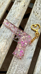 Pink Holographic Love pistol - Pressbe Workshop