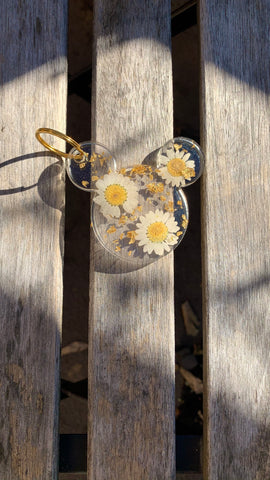 Chrysanthemum Mouse Keychain