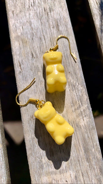 Yellow Gummy Bear Earrings - Pressbe Workshop