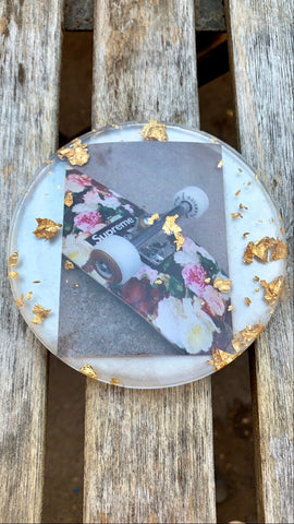 Floral Skater Coaster - Pressbe Workshop