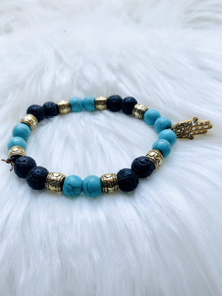 "Turquoise ""Evil Eye"" bracelet - Pressbe Workshop"