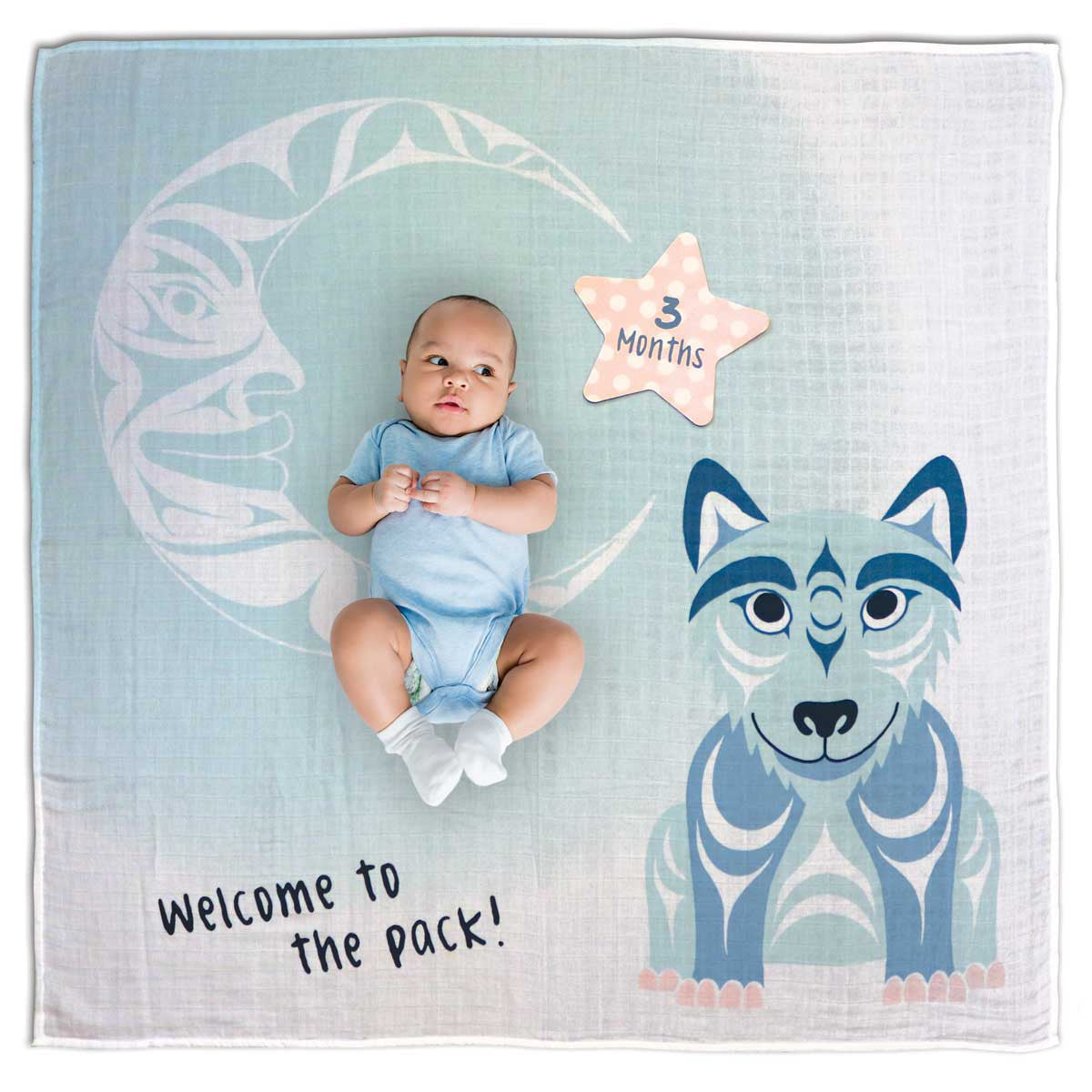 Baby Blanket and Milestone Sets- Wolf by Simone Diamond