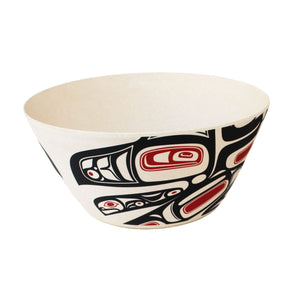 Bamboo Bowl  - Running Raven by Morgan Asoyuf