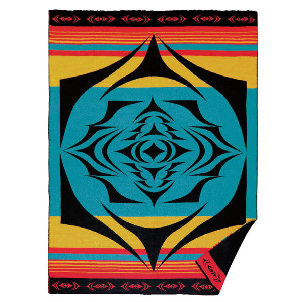 Woven Blanket - Salish Sunset by Simone Diamond