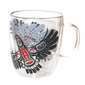 Double Walled Glass Mug- Eagles First Flight by Ernest Swanson